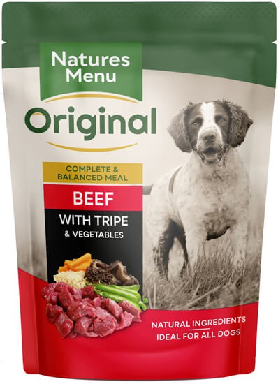 Natures Menu Beef with Tripe Pouch