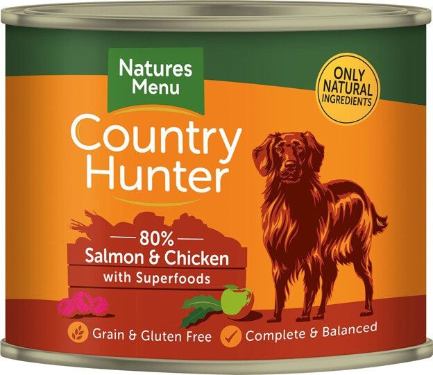 Natures Menu Country Hunter Salmon & Chicken with Superfoods Can