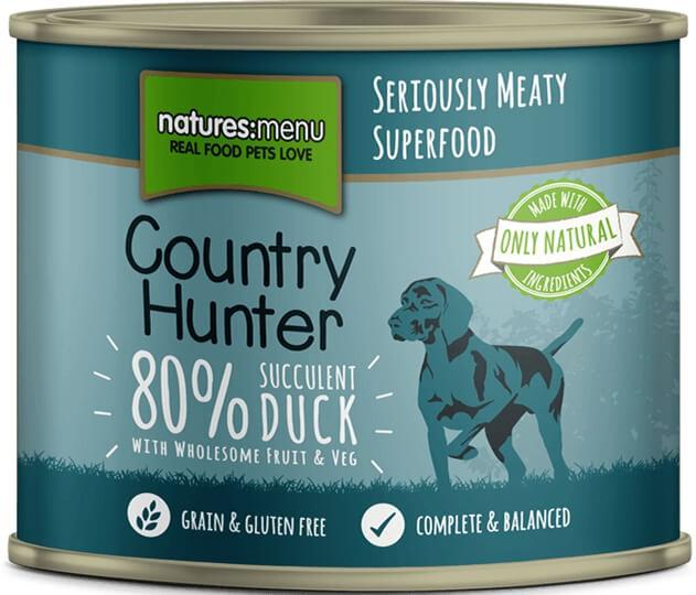 Natures Menu Country Hunter Succulent Duck with Superfoods Can
