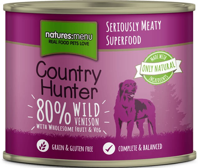 Natures Menu Country Hunter Wild Venison with Superfoods Can